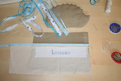 IMG_1828 (VaBoDesign) Tags: blue baby brown nature diy beige handmade linen stripes sew pillow cotton ribbon hedgehog sewingmachine homedecor skyblue embrodery vabo