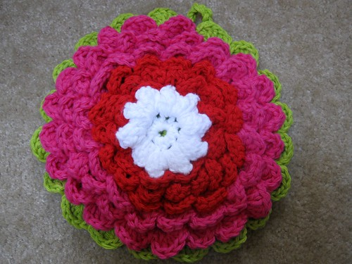 Fanciful Flower Potholder 1