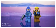 [DC] The Best Of Friends (  Jonathan  ) Tags: dc comics blue beetle booster gold ted kord michael carter best friends name more iconic duo lego custom superheroes purist figbarf justice league international