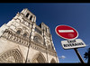 Lost in Translation (edmundlwk) Tags: paris france sign post cathedral notredame noentry residents canon450d rebelxsi tokina1116mm saufriverains edmundlim
