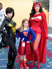 A Super Team! (A_Riddle) Tags: comics costume wasp cosplay supergirl marvel avengers riddle scarletwitch heroescon valerieperez heroescon09