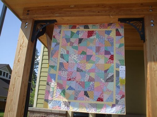 Crazy Nine-Patch Quilt - Sisters
