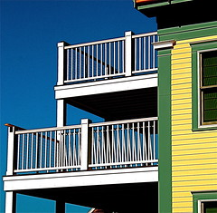 balconies brockport (photographynatalia) Tags: blue white bright massachusetts newengland balconies brockport