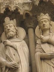 Sculptures at Notre Dame