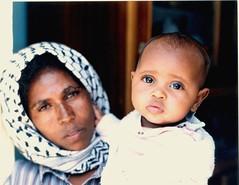 Eritrea, Woman Guerilla Fighter and Child