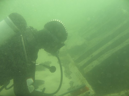 Martin cleaning the wreck