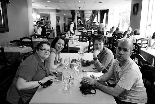 Jen, Alana (letterb.com), Jess (drowninginkids.com), and Aidan (thepalinode.com)