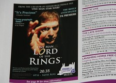 One Man Lord of the Rings at Edinburgh Festival Fringe 2009 promo