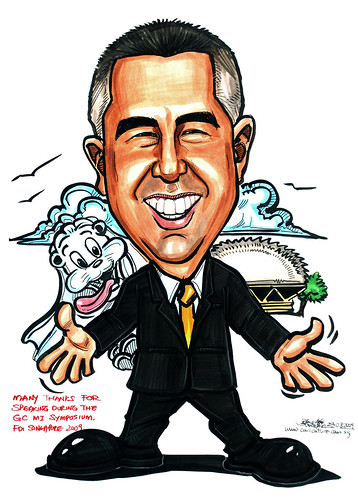 Caricature for GC Asia Dental - 3
