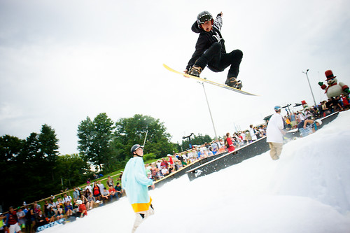 Snowboarder at Chill On The Hill at Chill On The Hill