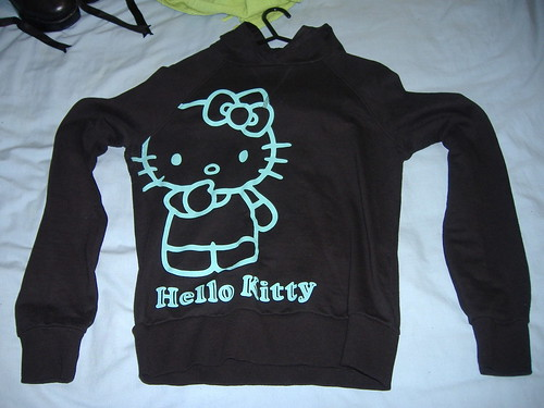 Black Hello Kitty Hoodie With