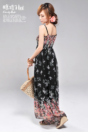 maxi dress with cardigan. maxi dress backview
