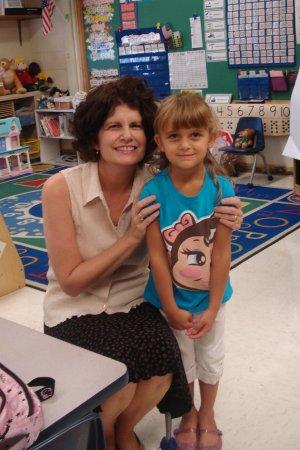 Karli & her Kindergarten teacher