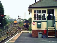 Par Box with Class 37 & Sprinter 153 (SP Railways) Tags: uk england station train cornwall box railway trains class 37 signal par semaphore 153 sprinter tsbg 153318