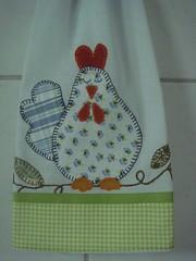 Galinha cochilando (*Sonhos em Retalhos*) Tags: galinha patchwork decorao cozinha patchcolagem panodeprato