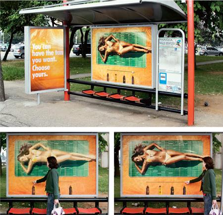 choose your tan - interactive billboard