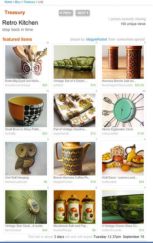 Etsy Treasury -- Retro Kitchen