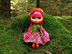 Candy Pink (Helena / Funny Bunny) Tags: nature doll blythe custom shrooms velvetminuet sbl reroot funnybunny candypink 20090919 fbfashion