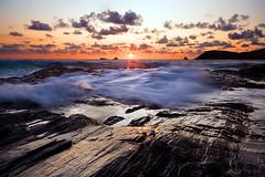 Speechless... (jasontheaker) Tags: ocean sunset sea cornwall waves head atlantic padstow trevose boobysbay jasontheaker