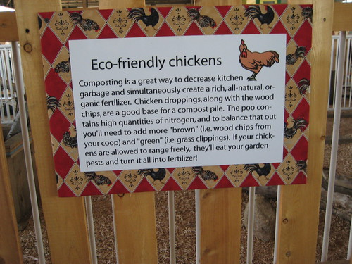 informative chicken sign
