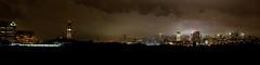 Rainy night ( estatik ) Tags: county nyc longexposure ny newyork tower rain fog night river dark lights newjersey jerseycity moody quiet manhattan nj september trainstation hudson 11th hoboken lackawana kartpostal