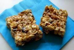 Peanut Butter Popcorn Granola Bars