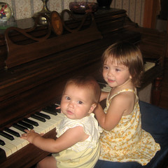 Lucy and Johanna at the Piano