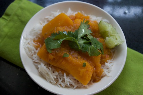 tonight's dinner: butternut squash curry