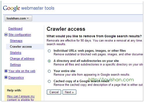 Crawler access