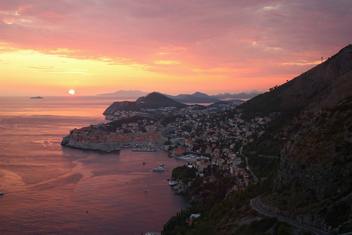 Dubrovnik Old Town and sunset