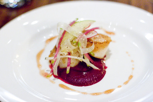 Sea Scallops with Roasted Beet Coulis 2