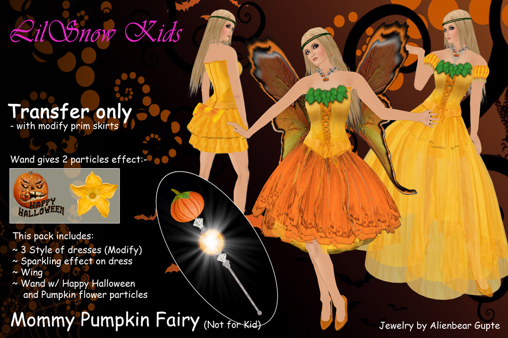 pumpkin Mommy fairy poster