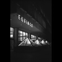 Equinox (jameswilsonphoto) Tags: street film st boston night training canon dark square ma franklin photo office downtown post image massachusetts delta pro 100 mass fitness gym sq financial ilford trainer equinox distric bostonist 7n dp100