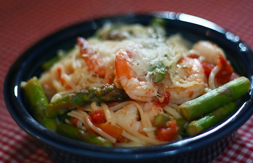 Linguine with Shrimp and Veggies