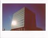 .. (Jösé) Tags: blue sky sunlight toronto building fuji universityoftoronto wide cube flare epson instax 210 v700 borgcube leslieldan