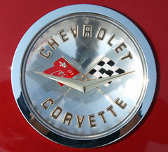 1958 Chevrolet Corvette Convertible (4 of 10) (myoldpostcards) Tags: auto cars chevrolet car emblem illinois classiccar automobile gm 1st good antiquecar first convertible il chevy badge 1958 springfield autos custom oldcar corvette 2009 generation vette 60th owner sportscar roadster c1 generalmotors secretaryofstate 2door motorvehicle collectiblecar chromeography 2seat 91209 twoseat myoldpostcards vonliski september122009 antiquevehicleshow dannygood