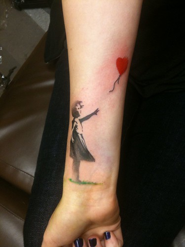 Fresh Banksy Tattoo Mynewestink Fresh Banksy Tattoo