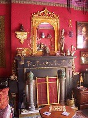 living room (Romany Soup) Tags: fireplace interior period redwalls