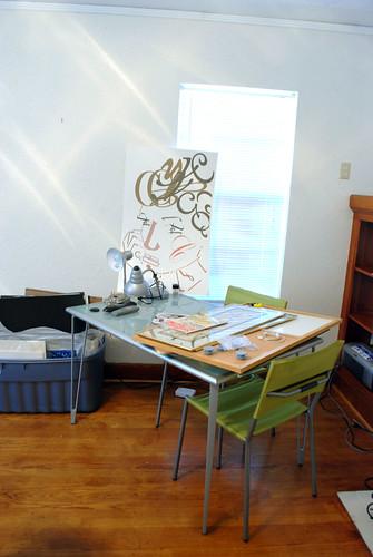 Desk/Clutter Pile. :)