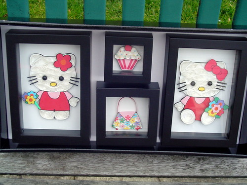 Hello Kitty Paper Quilling Collage