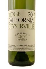 2005 Ridge Geyserville Zinfandel
