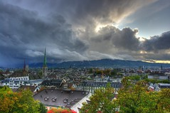 Zurich / Zrich with bad weather (VespaTS) Tags: clouds switzerland pentax zurich zrich hdr badweather grossmnster neumnster neumuenster grossmuenster polyterasse k20d da15ltd