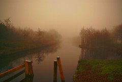Ems - Jade Kanal, misty late afternoon (by harryja)