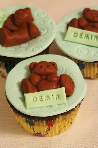ayılı cupcake