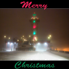 Merry Christmas! (:: Igor Borisenko Photography ::) Tags: christmas city winter light urban snow storm tower night dark downtown pennsylvania atmosphere pa erie merry blizzard bicentennial allrightsreserved bayfront nikond80 igorborisenkophotography