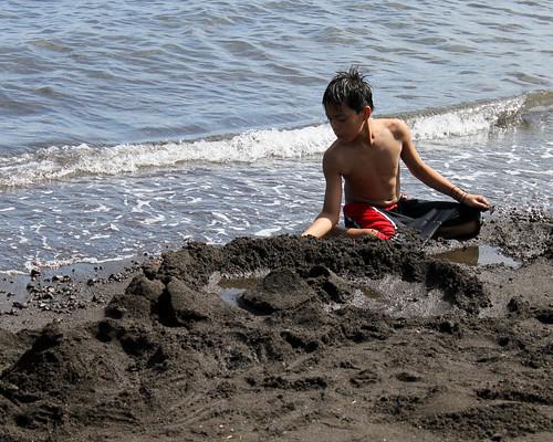 Building Mayon Volcano