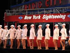 the rockettes ~nyc ( kimberlyann207 ) Tags: santa new york city nyc costumes music brown radio spectacular reindeer hall dance dancers dancing jazz center antlers precision tap kickline rockefeller rockettes 122107