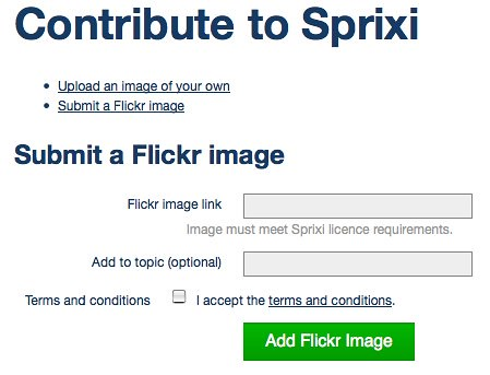 Sprixi - contribute via Flickr