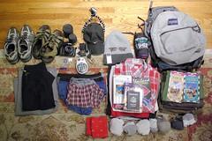 camera socks thailand shoes honeymoon pentax gear clothes shirts bandana passport lenses gorillapod