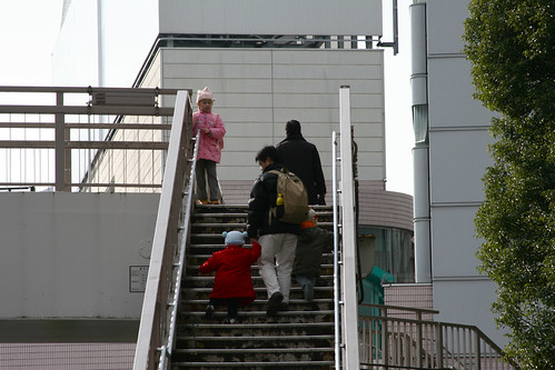 Climbing The Shinagawa Stairs